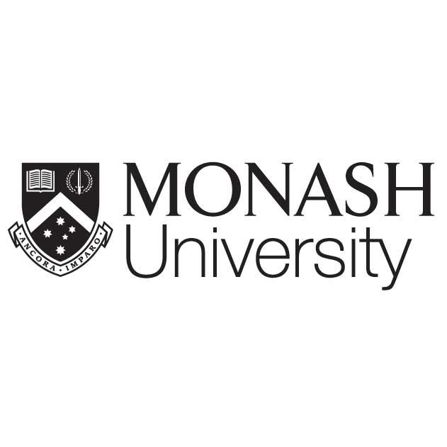 Monash Branded Kangaroo Hoodies - Grey with Zipper